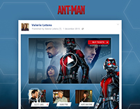 Interactive Facebook post // Ant-man