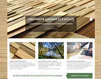 Website for a timber company