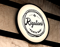 Rigatoni Pasta Bar - Logo design