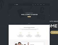 Fapor Creative Agency Web Template FREE PSD