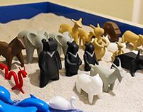 Fine'd Me: Sandplay Therapy Animal Figures