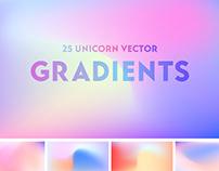 Free Unicorn Vector Gradients