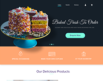 Cake Delivery - Web Design Concept