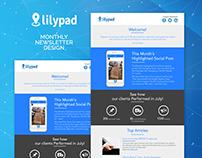 Monthly Newsletter Design for Social Media Highlights