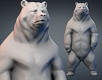 Standing Bear. Digital sculpture