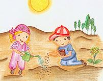 Ilustraciones para guías de protección solar