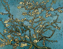 Blossoming Almond Tree Grunge