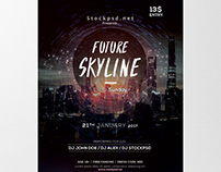 Future Skyline - Free PSD Flyer Template