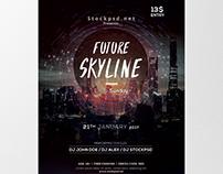 Future Skyline - Free PSD Flyer Template