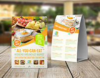 Breakfast Restaurant Table Tent Template