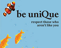 Be Unique; Anti-Bullying Poster