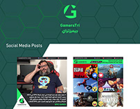 Gamerstri Social Media and Website design