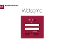 Hospitalsenheden Vest website concept