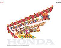 Dussehra Illustration for Honda (Unpublished)