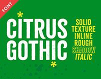 Citrus Gothic Font Family