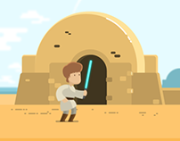 Luke v Boba Fett - Star Wars Animated Gif