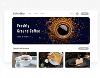 Coffee shop · Landing page