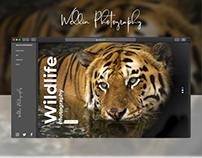 Wellin Photography portfolio website Ui Ux