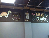 Chalk Signage for Kataluma Chai