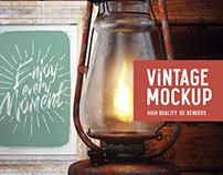 Old Lamp Mockup