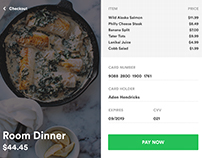 Dinner Checkout Page