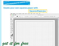 Javascript »SquaresPaper.jsx« for Adobe Illustrator.