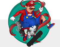 Poser Mario Bros - Vector Illustration