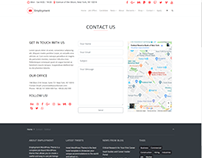 Contact Sidebar Page - Employment WordPress Theme
