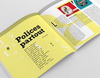 Editorial design: Polices partout