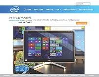 Class Assignment to redo Intel website -POP All-in-Ones