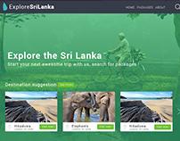 Explore Sri Lanka - Website designing