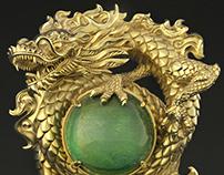 Dragon & Jade Pendant