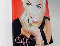 Pink/Alecia Moore vector illustration