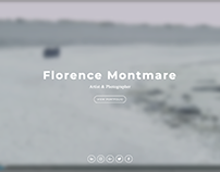 Florence Montmare: Squarespace website