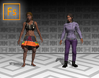 3D characters - Adobe Fuse & Photoshop CC