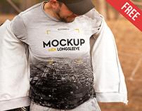 Men Longsleeve – 2 Free PSD Mockups