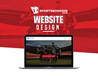 SportsBooking Website Design