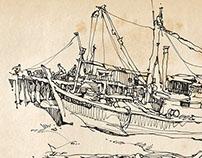 Sketches at Fishing Village01-Oct2014