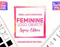 Feminine Logo Creator - Square Edition