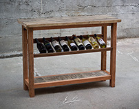 Reclaimed Wood Wine Hutch