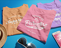 Female T-shirt Mock-up PSD