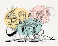 Music meets Love Illustrations