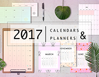 Planners & 2017 calendars.