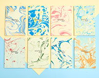 marbled notebooks / 3