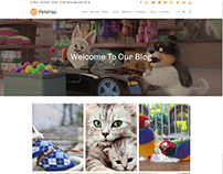 Blog Posts Grid - Petshop WordPress Theme