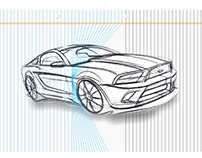 How to create 3D design in CorelDRAW of Mustang GT 500
