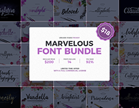 Marvelous Font Bundle (92% Off)
