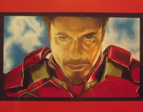 Colored Pencil Iron Man