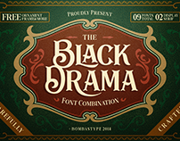 BLACK DRAMA - FREE ANTIQUE RETRO FONT