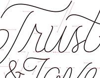 Trust & Love Lettering